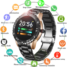LIGE New Steel Belt Smart Watch Men For Android IOS Heart ra