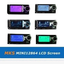1pc MKS MINI12864 ekran LCD Mini 12864 inteligentny panel z gniazdo kart sd obsługuje Marlin dla części drukarki 3D w Części i akcesoria do drukarek 3D od Komputer i biuro na