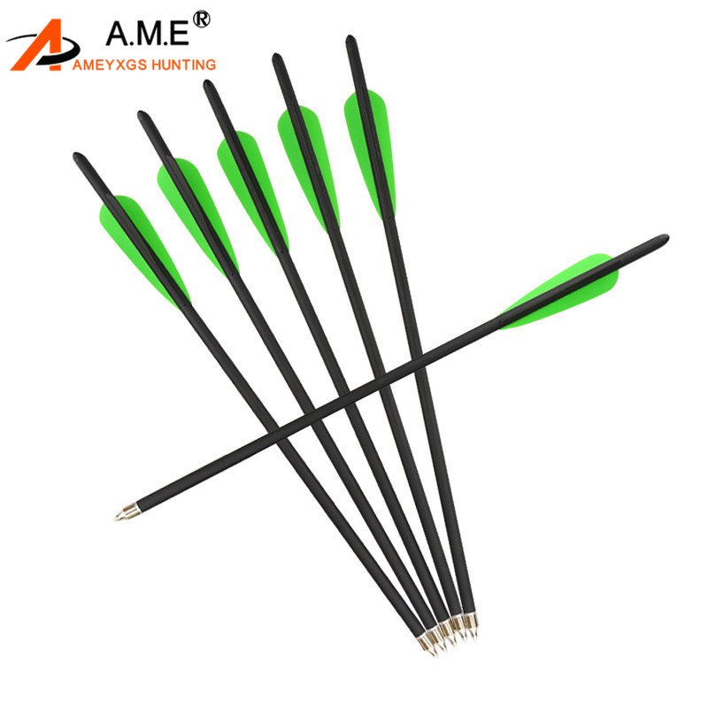 12X Fiberglass Archery Arrows Screw Tip Recurve Compound Practice Hunting Target