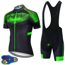 цена на 2020 TEAM NW Cycling clothing Bike Jersey Shorts set Ropa Men pro jersey short sleeves Maillot Culotte 20D Gel Pad