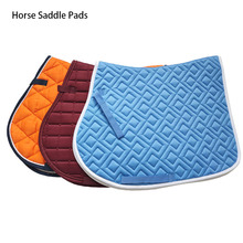 Horse Riding Protective Cotton Cushion Saddle Pad Sweat Absorbing Horse Riding Show Breathable Soft Equestrian Saddle Cover