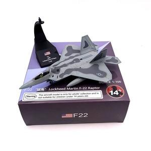 Image 4 - Modèle davion en métal moulé à léchelle 1/100, jouets USA F 22 F22, chasseur Raptor, jouet pour enfants, Collection cadeau, livraison gratuite