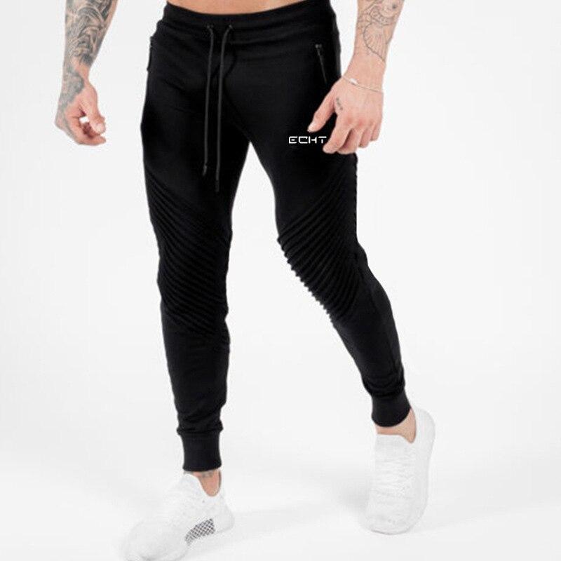 YEMEKE Sweat Track Pants Men Joggers Sweat Pants Streetwear Multi Pocket Autumn Gym Zipper Sporting Trousers Pantalones Hombre