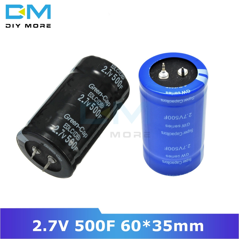 Super Farad Capacitor 2.7V 500F 60*35mm Vehicle Rectifier High Frequency Low ESR 2.7V500F 60x35mm 60x35 Capacitor Ultracapacitor