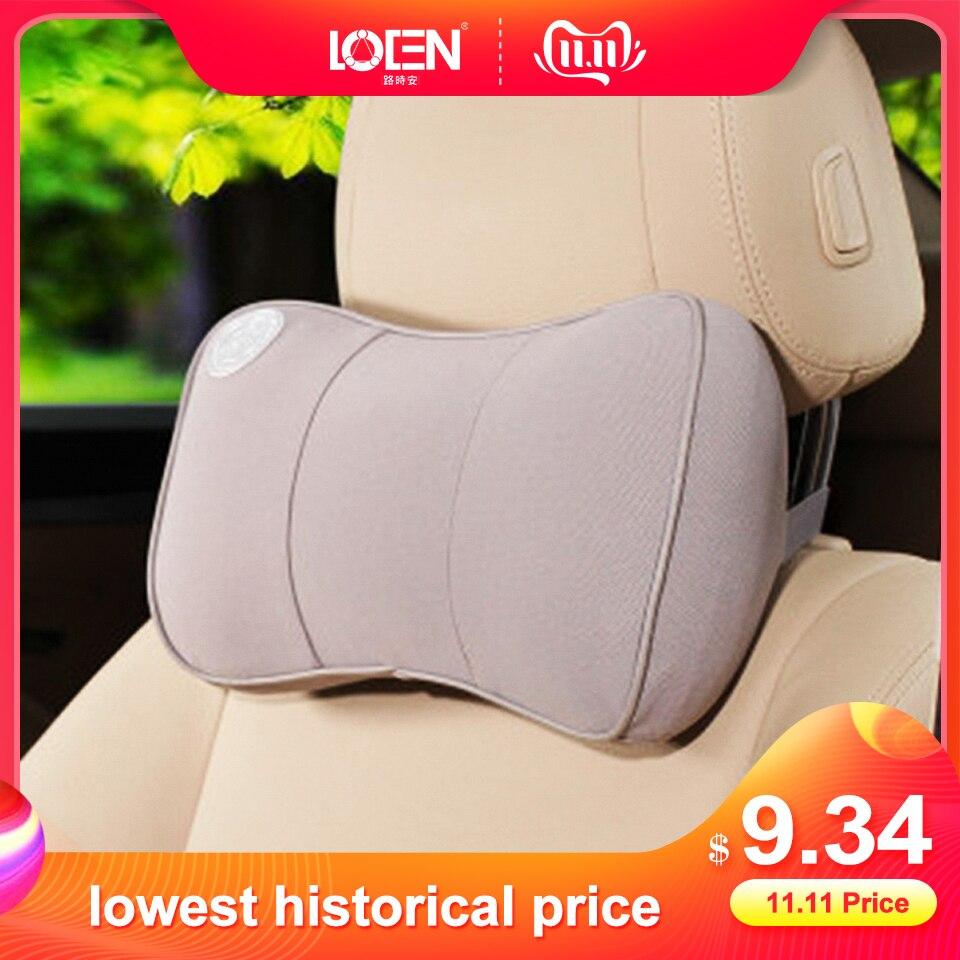 1PCS Car Seat Pillows Bone Neck Rest Pillow Memory Foam Travel Pillows Headrest Universal Cars Red Black Gray Brown Blue Beige