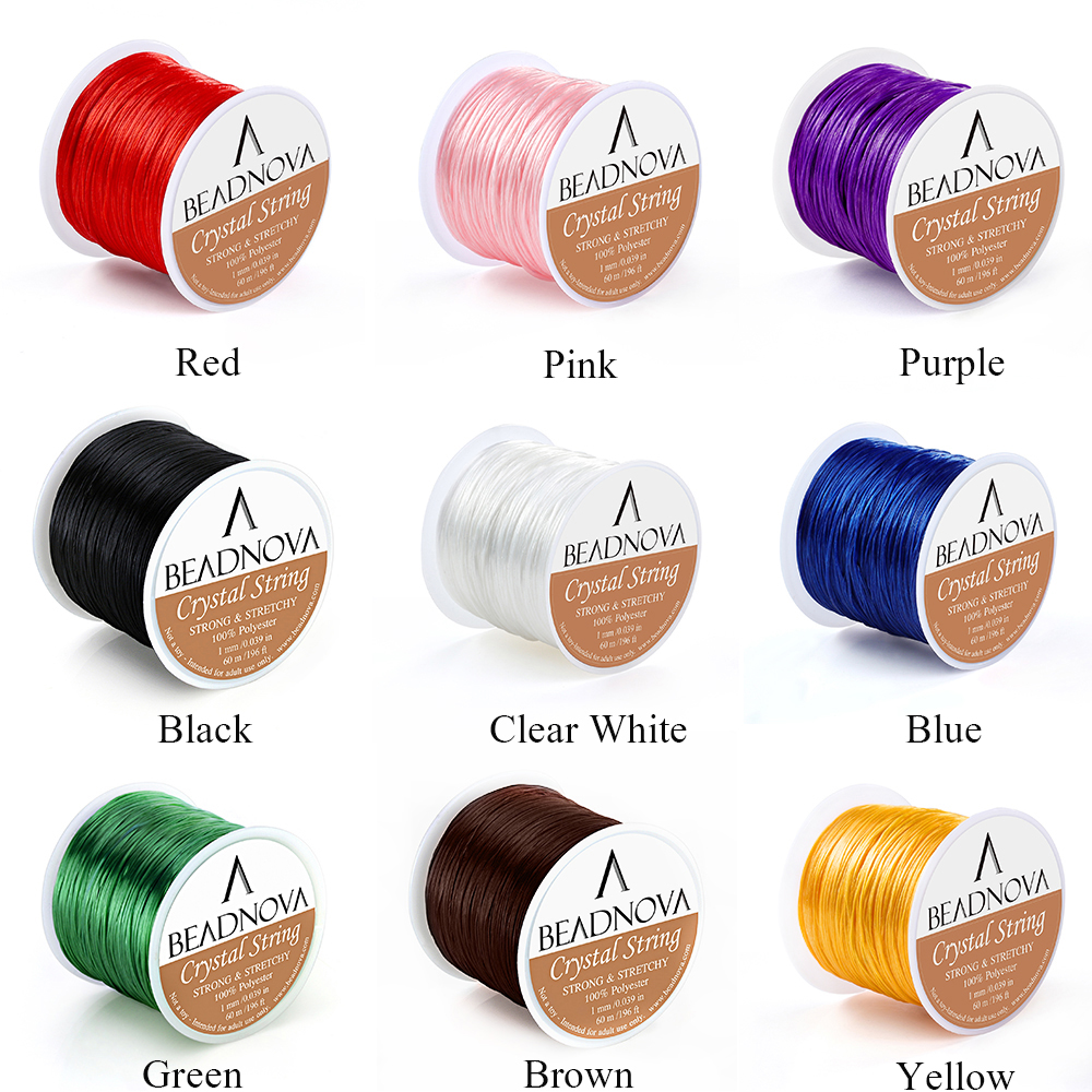 60m//Roll 0.8mm Jewelry Crystal Elastic Rope Beading Wire Bracelet Necklace Cord