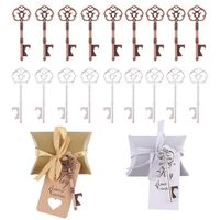 50 Sets Wedding favors Party Key Bottle Opener with Tag Paper Candy Bag Souvenir Gifts Wedding Gifts For Guests Wedding Decorati