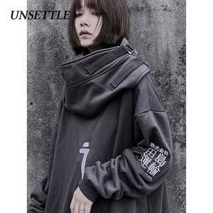 Image 4 - Herfst Hoge Hals Vis Mond Japanse Harajuku Hoodie Mannen Hip Hop Gothic Streetwear Sweatshirts Oversized Hoodies Vrouwen Mannelijke Tops