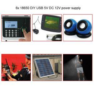 Image 5 - Wasserdicht DIY 6x18650 Batterie Fall Box Abdeckung mit 12V DC und USB Netzteil für Bike LED licht Handy Router