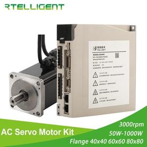 Image 1 - Rtelligent 2500 lead AC Servo Motor 100W 200W 400W 600W 750W 1000W  Permanent Magnet Matched Driver 3000RPM Encoder resolution