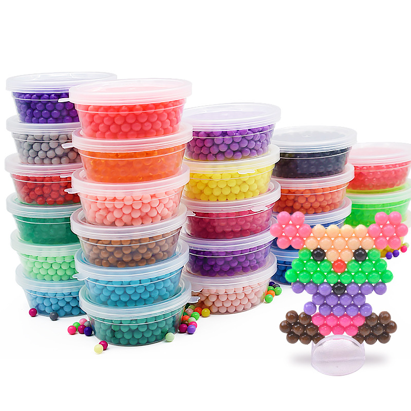 400pcs Water Beads Spray Animal Magic Beads Kit Balls Beads Puzzle Game Fun DIY 3D Puzzle Educational Toys For children Kid Gift(China)