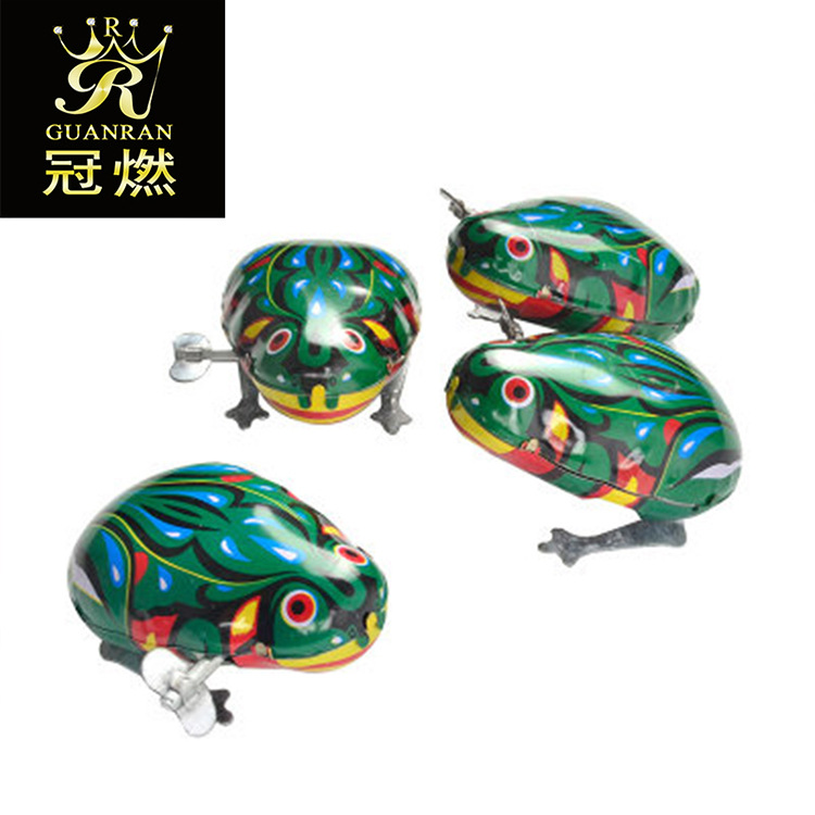 Algam Frog Spring-Winding Chickens Educational Small Toy Chain Toy Wind-up Toy Nostalgic Toy