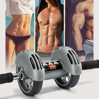 Automatic Rebound Two-Wheeled Abdomen Machine Muscle Massager Exercise Fitness Equipment Slimming Training Apparatus new1.1
