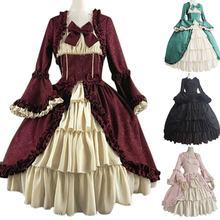 Модное женское средневековое Ретро готическое платье корт с