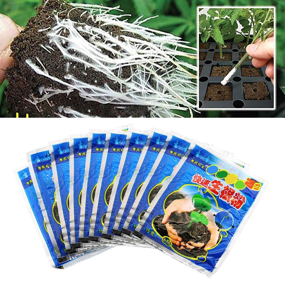 10pcs Rapid Rooting Powder Plant Growth Regulator For Seedling Bonsai Tree Cutting Fungicide Rooting Hormones Foliar Fertilizer