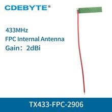 10 قطعة/الوحدة 433MHz 2dbi الشركة العامة للفوسفات هوائي داخلي IPEX موصل LoRa راديو 4g احادي واي فاي انتينا