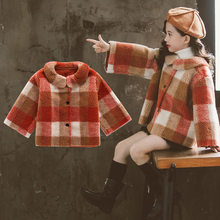 Wool Coat 2019 Autumn Winter Korean Style for Girls New Fashion Children Jacket Outerwear Fur Wool Coat Warm For Baby Girls Princess Thick Coats For Kids Clothes new winter girls fur coat elegant baby girl faux fur jackets and coats thick warm parka kids outerwear clothes girls coat