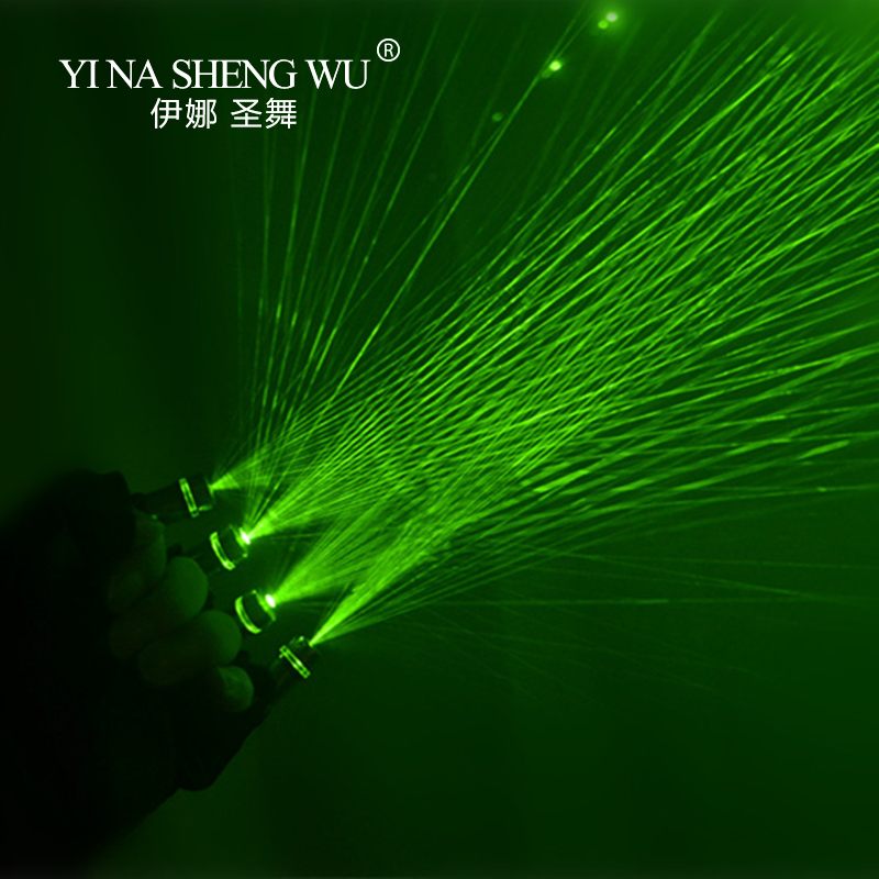 Green Laser Gloves Nightclub Bar Party Dance Singer Dance Performance Props DJ Mechanical Gloves LED Light Laser Gloves Unisex