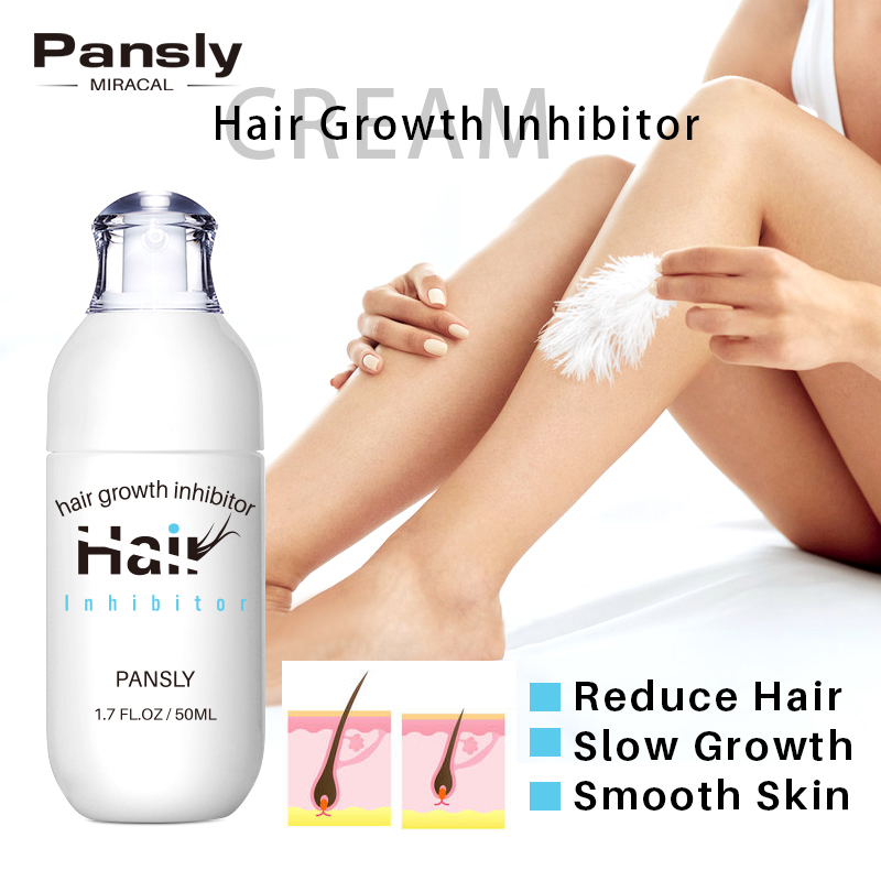 Mild Hair Growth Inhibitor Smooth Repair Skin Stop Hair Inhibitor Cream Face Body Pubic Bikini Leg Armpit Hair Removal Treatment