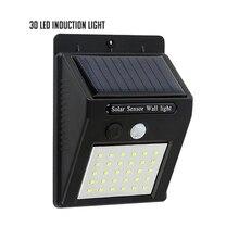 PIR Motion Sensor 1pcs 30 LEDs Solar Light Solar Powered Wireless Solar Lamp Waterproof Outdoor Garden Yard Wall Lamp LED Light