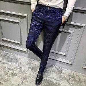Image 4 - Мужские классические брюки, повседневные облегающие брюки с парфюмом для офиса, осень 2019