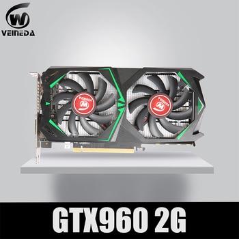 Veineda placas gráficas geforc gtx960 2g ddr5 128bit nvidia computador placa de vídeo desktop pci express 2.0 computador mais forte do que gtx 950 1