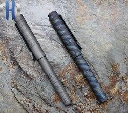 EDC tytanowy długopis obronny taktyczny podpis pisanie piórem w Łomy od Narzędzia na