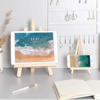 MINKYS Foldable Desktop Wooden Holder For iPad Mobile Phone Tablet PC Stand Holder Book Holder Mini Easel 1