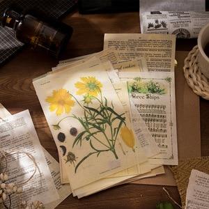 12 наборов блокнотов Липкие заметки ретро лист музыка завод бумажный дневник в стиле Скрапбукинг наклейки мусор школьный журнал канцелярск...