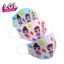 Original 2020 LOL Surprise Dolls Kids Cotton Masks Dustproof Breathable Anti-haze Pm2.5 Sunscreen Girls
