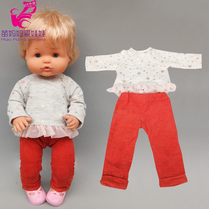 38cm baby <font><b>doll</b></font> <font><b>clothes</b></font> pants for <font><b>40</b></font> <font><b>cm</b></font> Nenuco outfits Ropa y su Hermanita <font><b>doll</b></font> suit accessories image