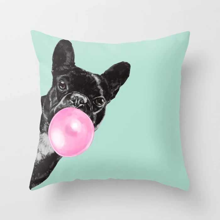 漫画動物ユニコーン装飾的な投球枕クッションカバー家の装飾キリンソファ車の腰 45 × 45 センチメートルラマアルパカパーティー