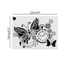 22*16cm DIY Craft Butterfly Pattern Stencil Template For Wall Painting Scrapbooking Stamping Photo Album Decor Embossing Cards 15 15cm diy craft art stencil template for wall tile painting scrapbooking stamping album decor embossing card