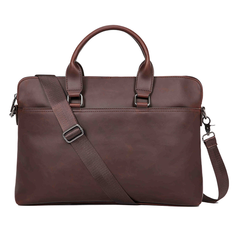 New Leather Briefcase Korean Shoulder Messenger Bag Retro Diagonal Office Men Handbag Casual Bolso Hombre Business Travel Bags