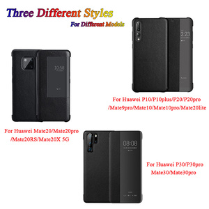 Image 5 - Luxury Smart View Window P40pro Flip Case For Huawei P40 P30 P20 Mate 30 20X 5G 10 Pro Lite P10 Plus Genuine Leather Phone Cover