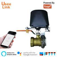 UseeLink WiFi Smart Gas/Valvola di smart Home, Casa Intelligente di Controllo di Automazione per il Gas di Lavoro con Alexa, Google Assistente, IFTTT Potenza da tuya