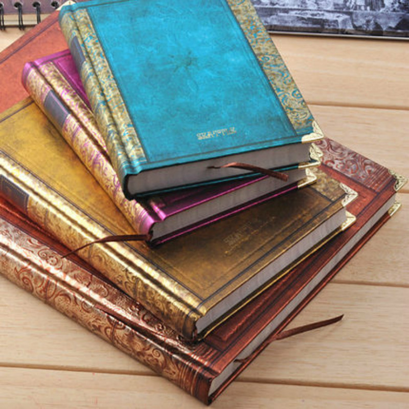 Retro Vintage Notebook Handcover Seattle Europe Classic Book With Metal Corner Planner Journal Traveler Notepad Gift Stationery