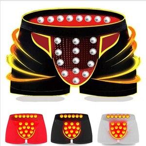 Image 1 - 3 peças/pacote nova roupa interior masculina sexy boxer shorts underwear cuidados de saúde terapia magnética respirável casu