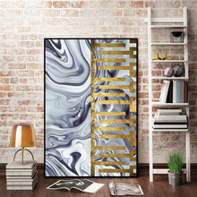 Wall Art Canvas Painting Golden Blue Colors Pictures For Living Room Modern Minimalism Posters and Prints Decorative