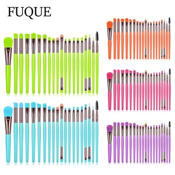 20 pcs Fluorescent Eyeshadow Brushes Set Professional Makeup Brushes For Eyes Beauty Cosmetic Tools Makeup Kit 1