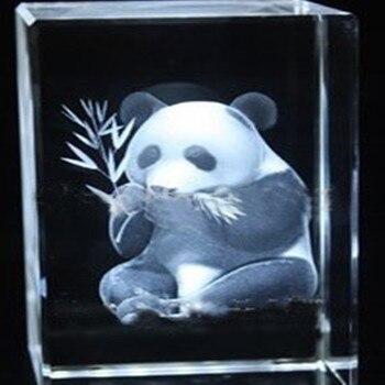 Заводская оптовая цена 5*5*8 см K9 Кристальный куб с 3D лазерной пандой рекламный подарок лучшие свадебные сувениры Сувениры пресс папье