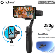 Hohem iSteady Mobile Plus 3 Axis Handheld Gimbal Stabilizer Payload 280g for iPhone 11 Pro Max XS Max XR X Samsung Huawei Xiaomi