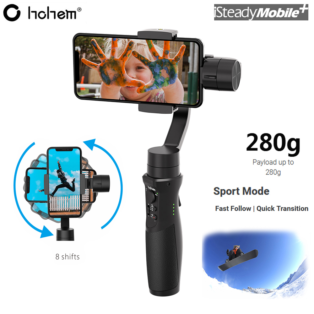 Hohem isteady мобильный шарнирный 3 осевой держатель для смартфонов для iPhone X 8 плюс 8 7 P samsung S9 S9 + S8 PK Zhiyun гладкой 4 Q