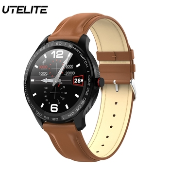 UTELITE Smart Watch Men Women Waterproof ECG Heart Rate Blood Pressure Clock Sport Fitness Tracker Smart Band for Android IOS