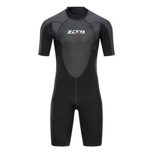 Image 3 - גברים חליפת צלילה שורטי 3mm Neoprene חורף חזרה Zip בגד ים לשחייה שנורקלינג גלישת קיאקים צלילה חליפה