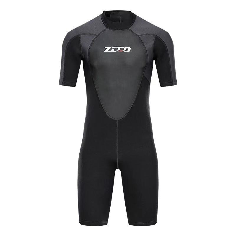 Image 3 - Men Wetsuit Shorty 3mm Neoprene Winter Back Zip Swimsuit for Swimming Surfing Snorkeling Kayaking Scuba Diving Suit-in Wetsuit from Sports & Entertainment