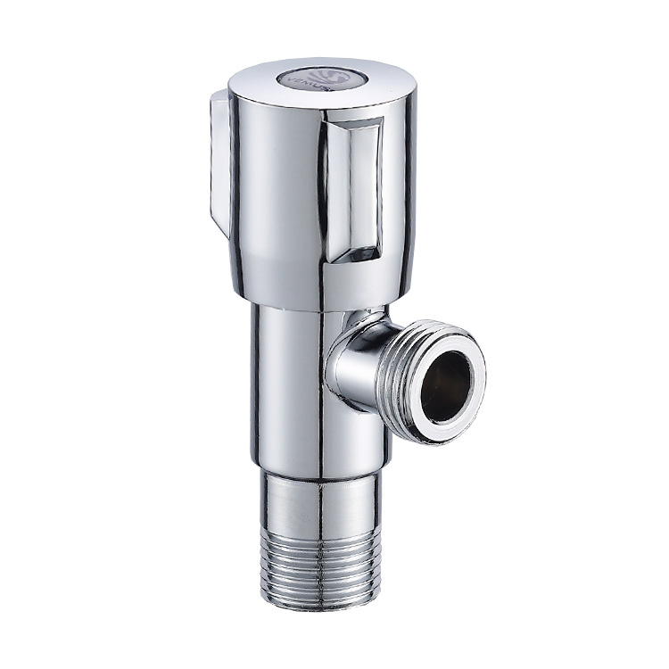 201 Stainless Steel Electroplated Triangle Valve Chamber Pot Water Heater Hose Cold Water Triangle Valve Manufacturers Wholesale