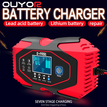 12v Battery Charger Digital LCD Display Car Battery Charger 12v 24v Full Automatic Power Puls Repair Chargers Wet Dry Lead Acid