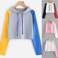 Herbst Frauen Cropped Hoodie Casual Hoodie Sweatshirt Mit Kapuze Pullover Tops Bluse Erdbeere Pastell Kleidung Moleton