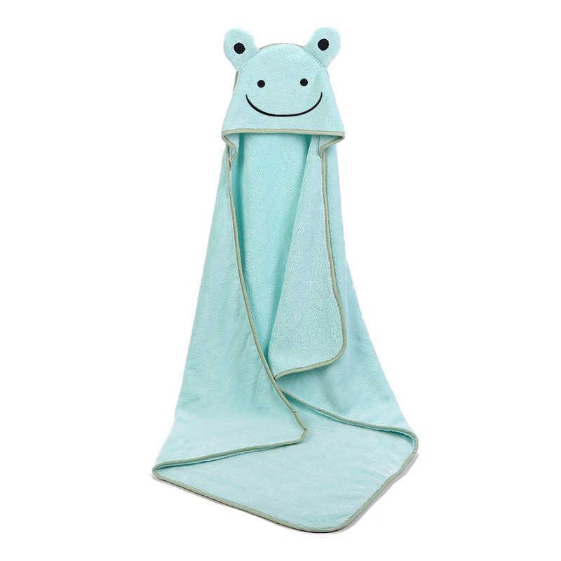 Baby Poncho Bad Handtuch Bebe Toalla Samt 90*90cm Fleece Haube Infant Handtücher Decke Neugeborene Baby Mit Kapuze Handtuch infant Babys Spa